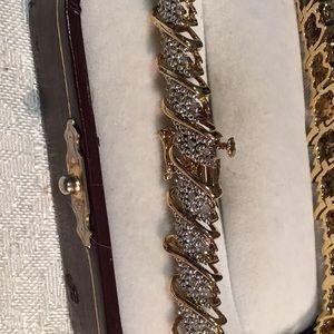 Silver and diamond bracelet #563R